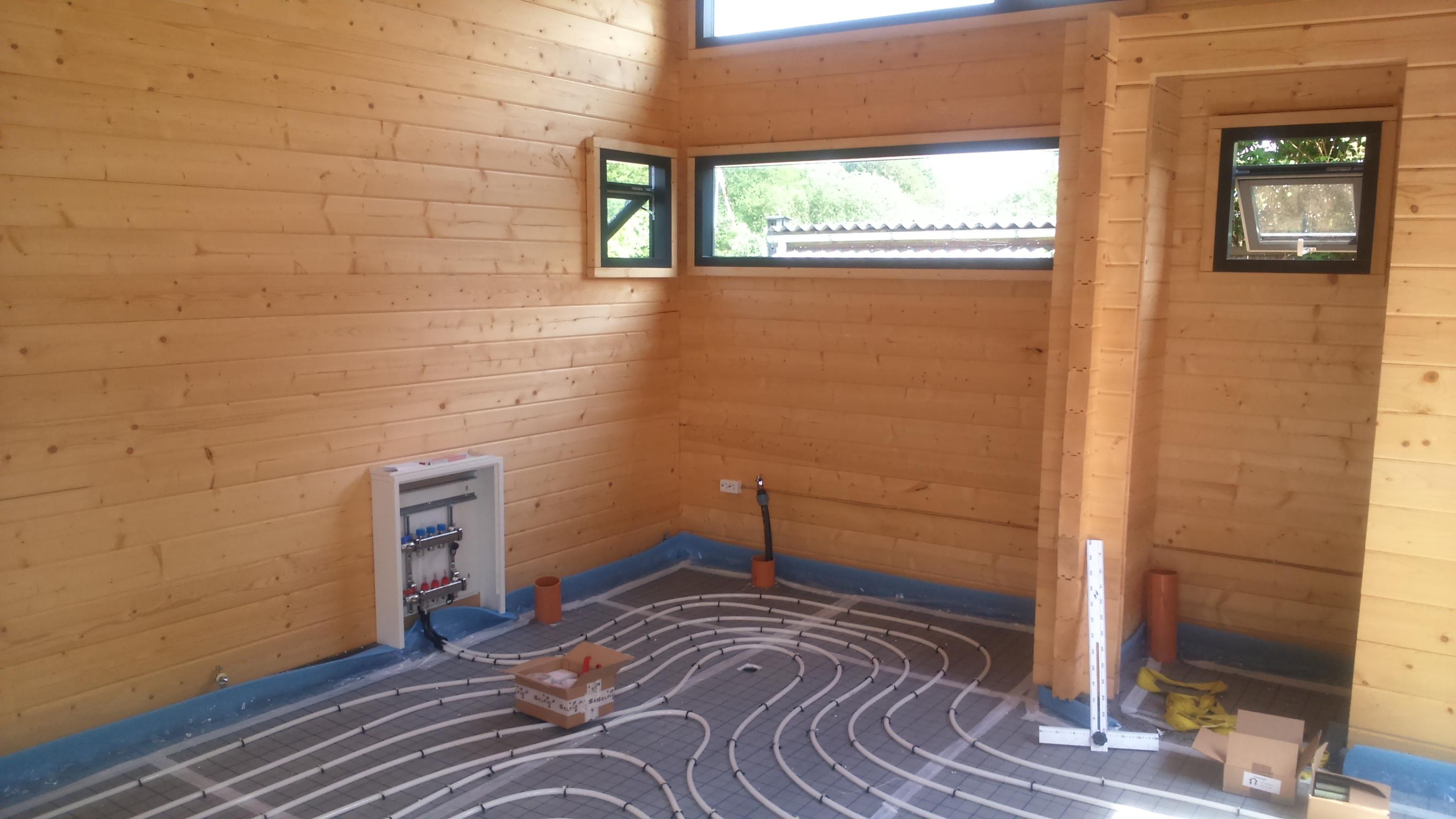 Godt etablering af gulvvarme – mini house XT86
